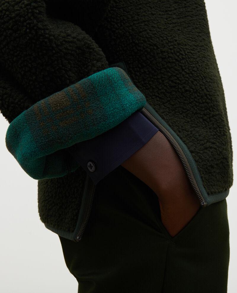 Pullover aus Fleece mit Tartankragen Scarab Marson