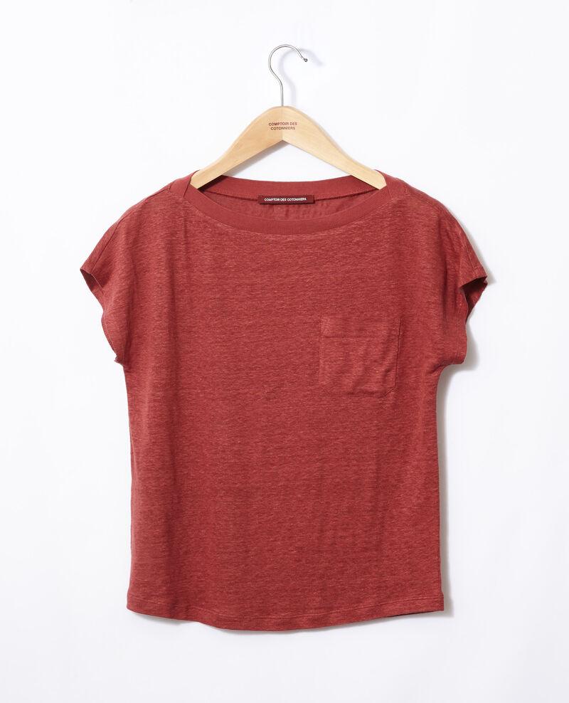 T-Shirt mit Tasche Cowhide Granolita
