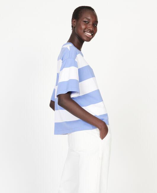 T-Shirt aus merzerisierter Baumwolle STR OPTICALWHITE PERSIANJEWELS