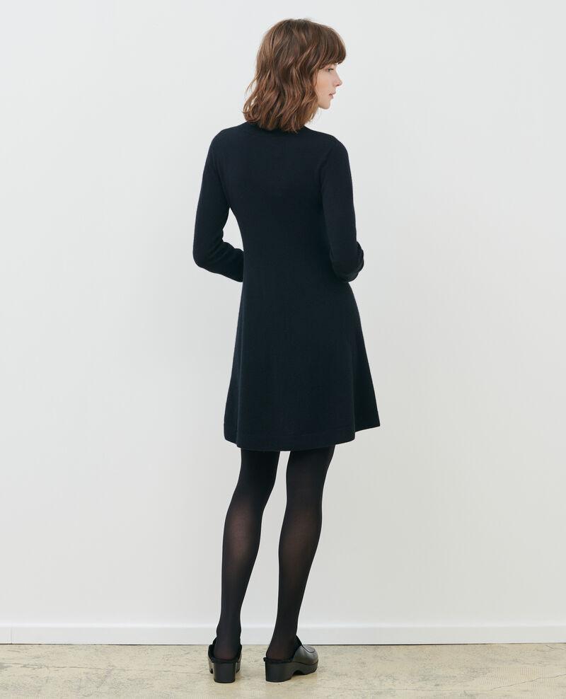Kurzes Kleid aus 3D-Kaschmir Black beauty Paulnela