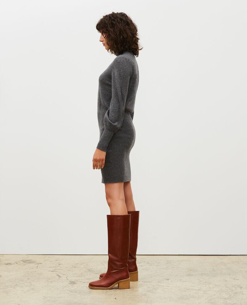 Pulloverkleid aus Kaschmir Medium grey melange Manin