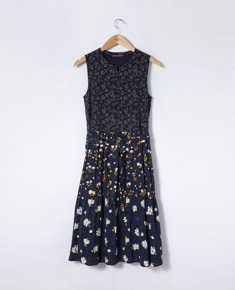 Gemustertes Kleid Blau Garry