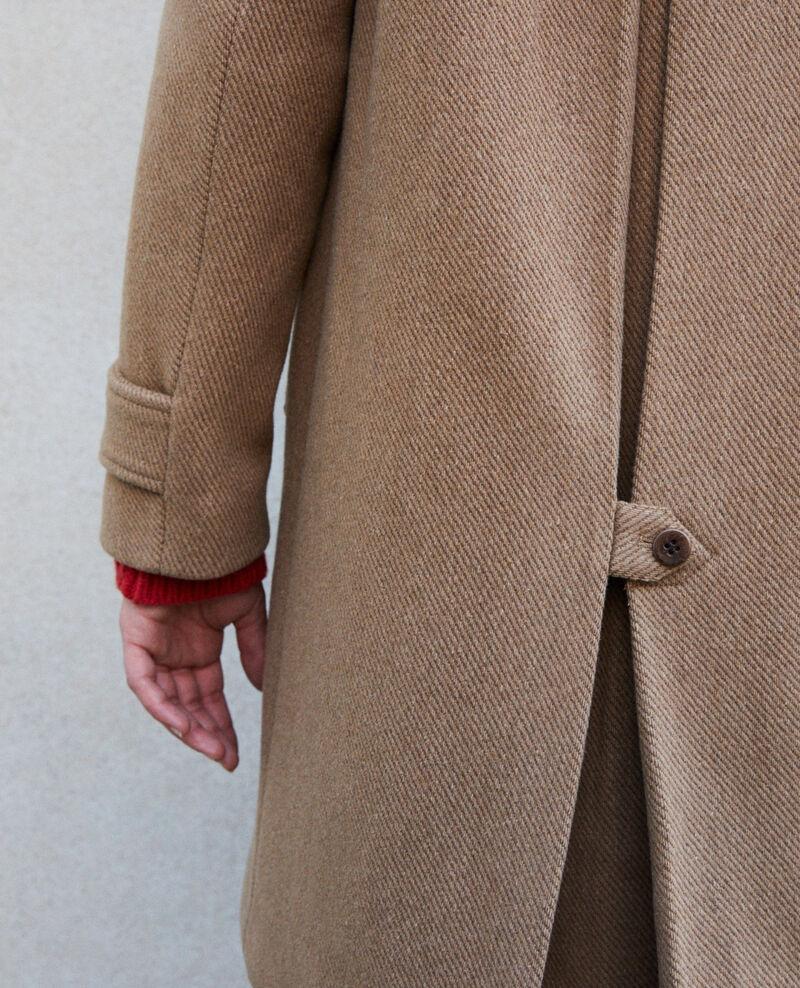 Mantel mit Stehkragen Beige Goyave