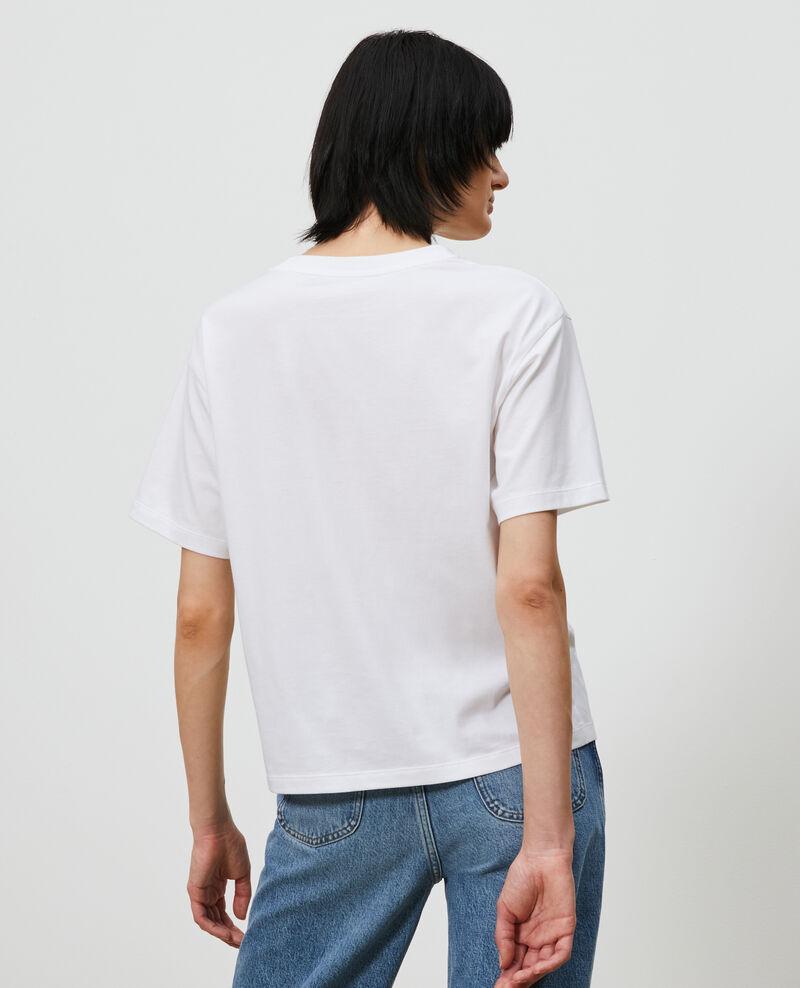 T-Shirt aus Baumwolle mit kurzen Ärmeln Forget me not Marlane