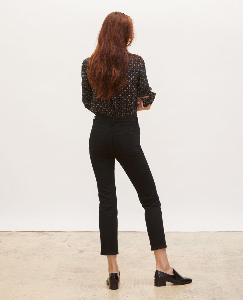 SLIM HIGH RISE - Cropped Jeans 5 Taschen Noir denim Merville