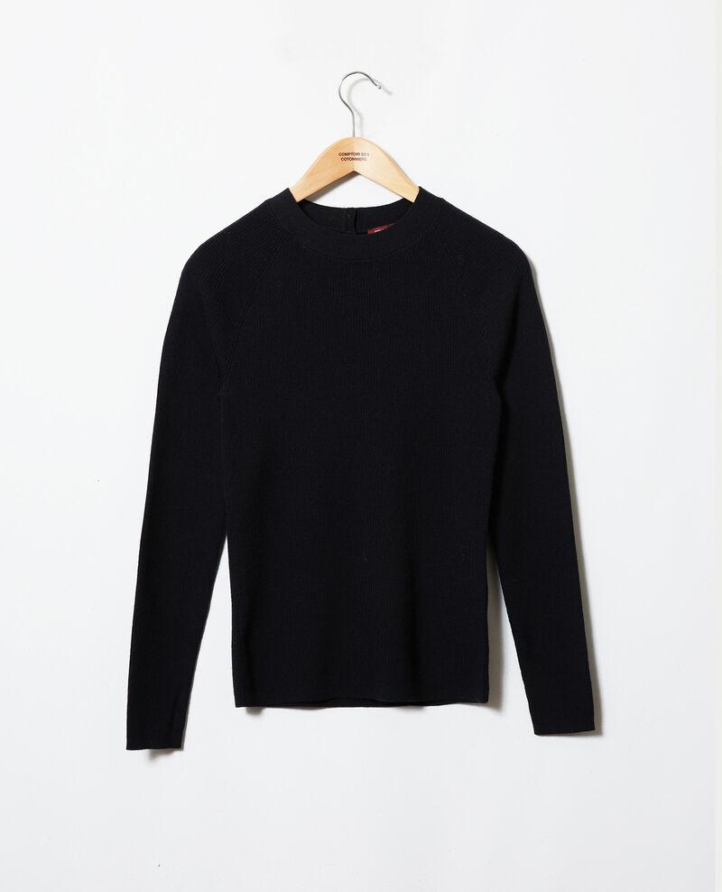 Pullover mit Knöpfen im Rücken Noir Jemossa