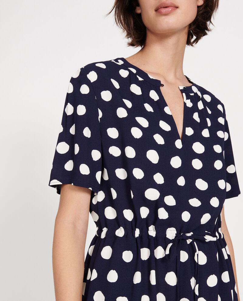 Gerades und fließendes Kleid Dots maritime blue Legrais