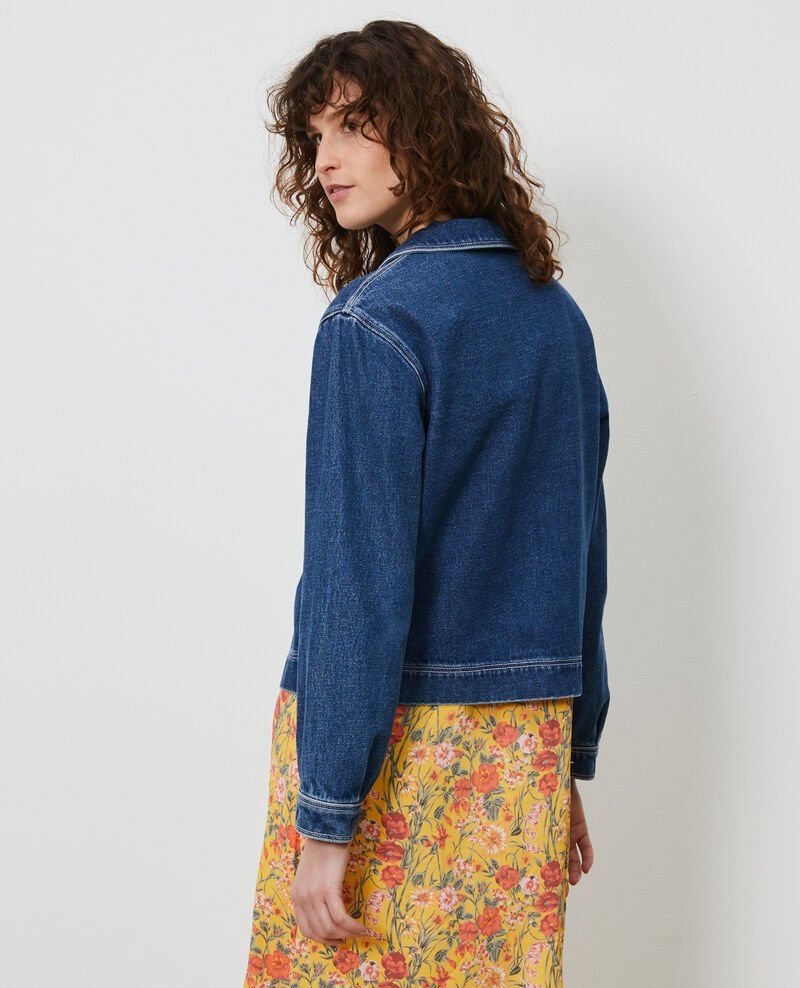 Kurze Jacke aus Denim Denim vintage wash Lalon