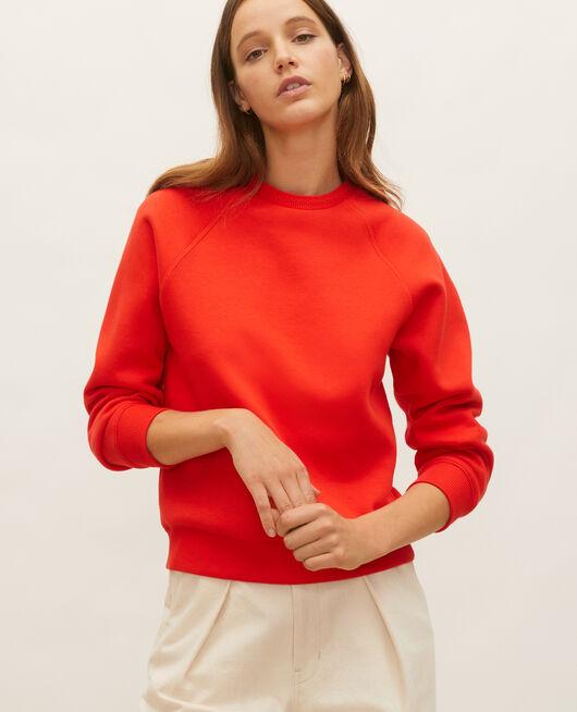 Sweatshirt aus Molton FIERY RED