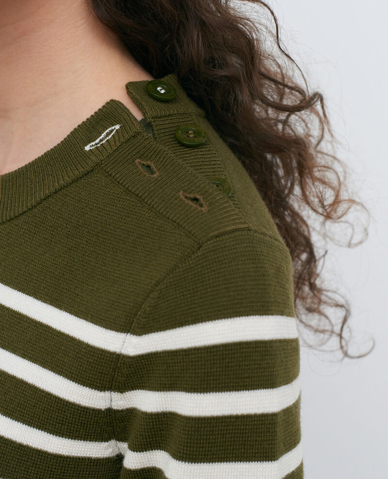 MADDY - Wollpullover im Marinelook Stp olive jtst Liselle