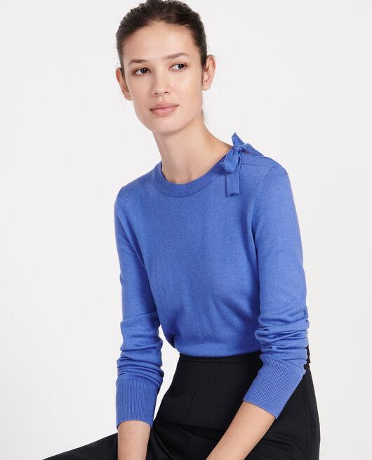 Pullover mit Seide und Kaschmir AMPARO BLUE