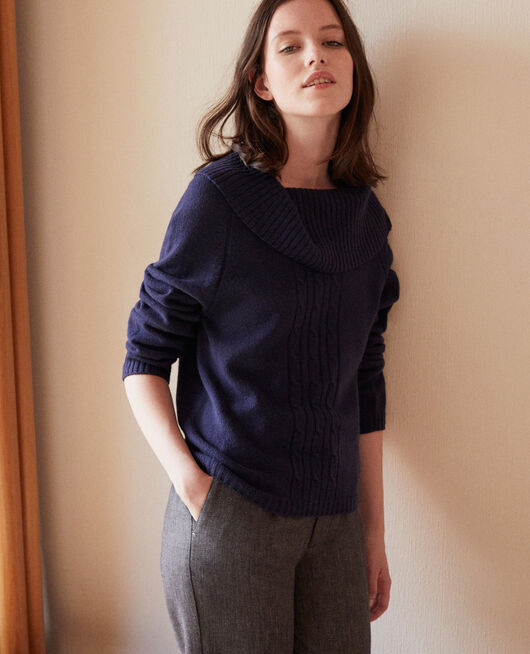 Pullover mit Zopfmuster PEACOAT
