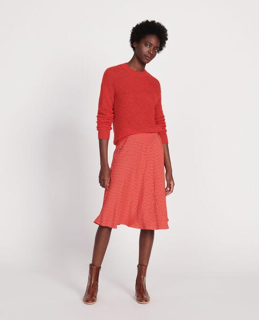 Pullover aus Baby-Alpaka FIERY RED