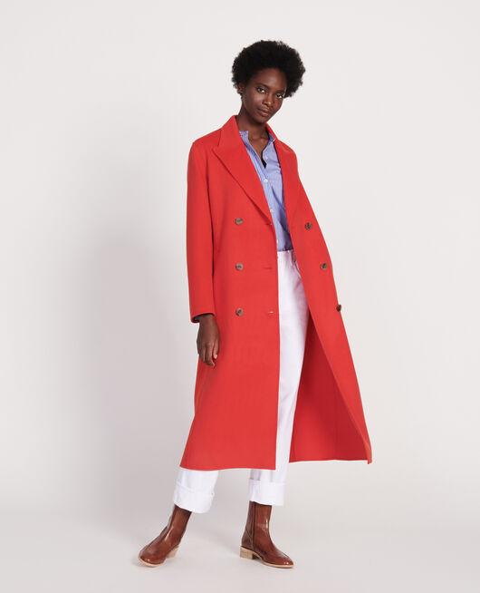 Langer Mantel FIERY RED
