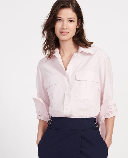 Bluse aus Baumwoll-Popelin PRIMROSE PINK