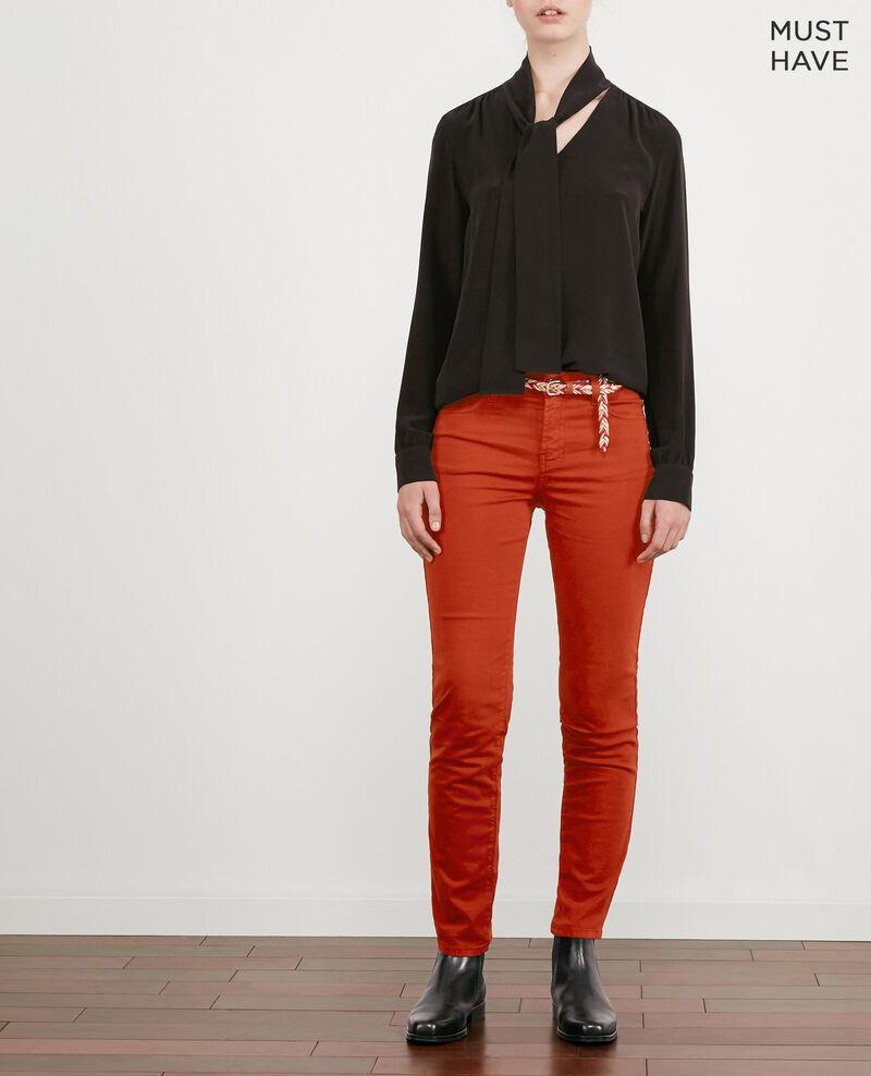 Jeans in Zigarettenform mit Pfirsichhauteffekt Rust Dhanna