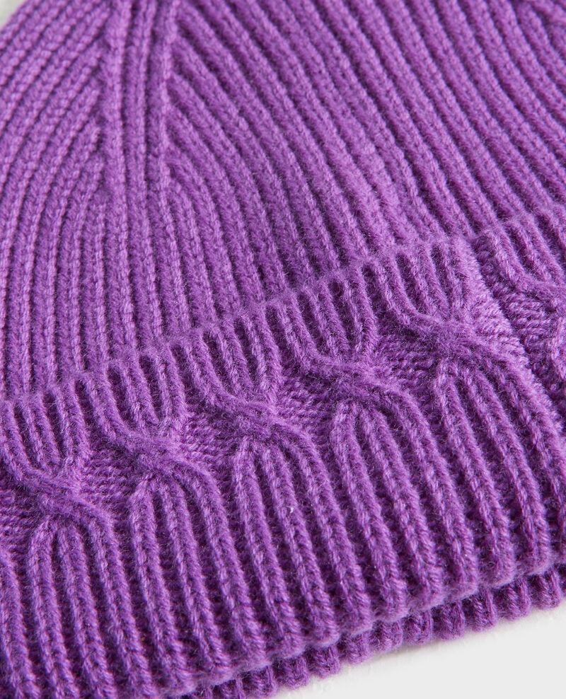 Mütze aus Wolle Brghtviolet Philera