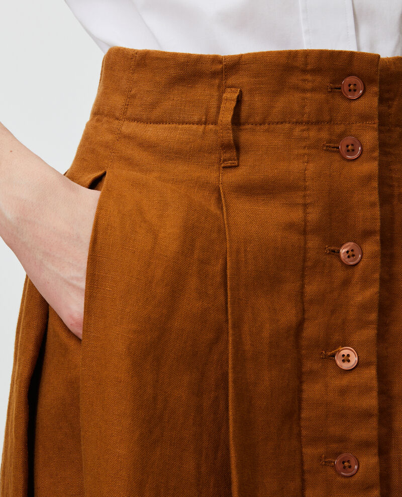 Mittellanger Leinenrock Monks robe Lorlange