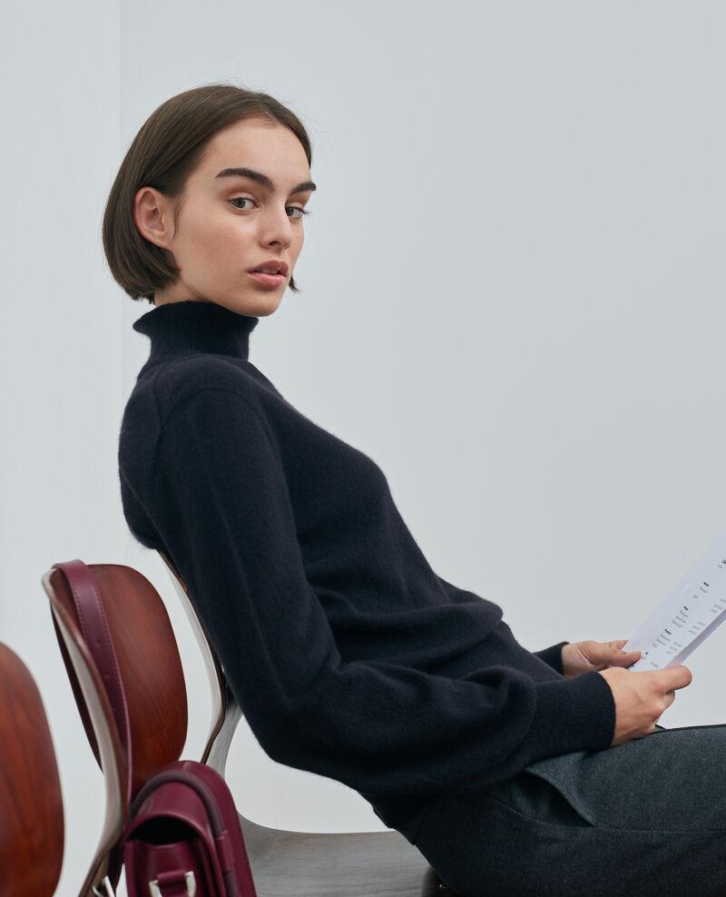 Feiner Pullover aus 3D-Kaschmir mit Stehkragen Black beauty Mane