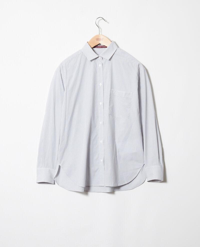 Gestreifte Bluse aus Baumwolle Ss navy Jadori