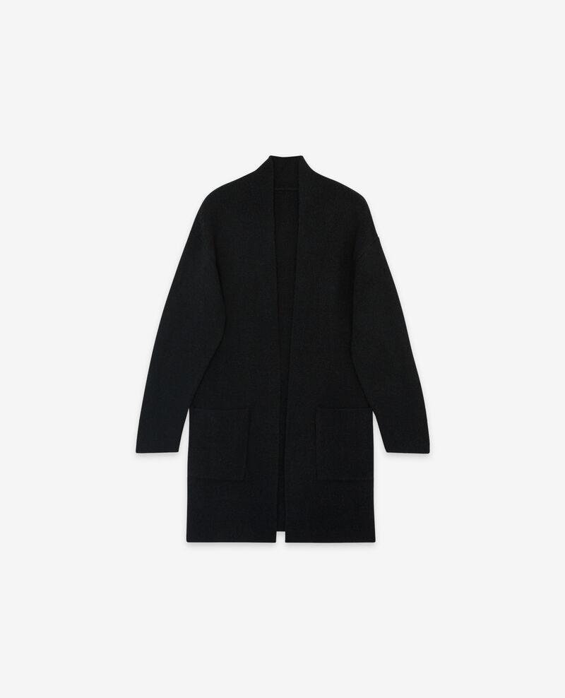 Halblanger Cardigan Noir Demis