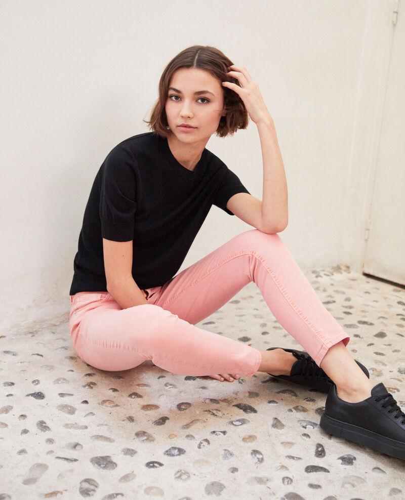 Skinny-Jeans Salmon pink Ibonair