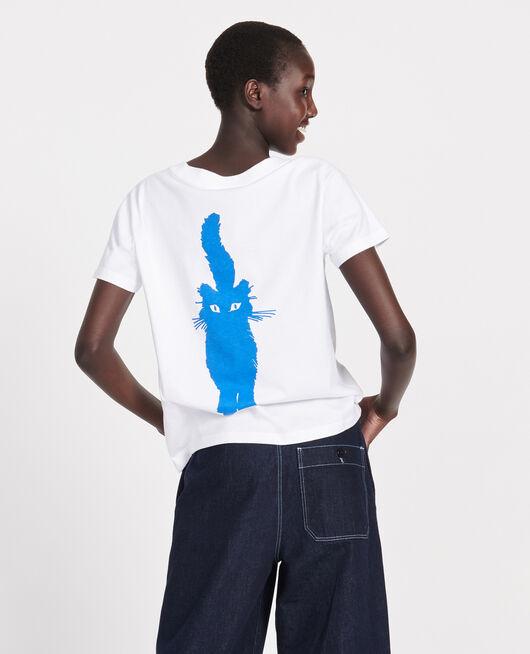 T-Shirt aus Baumwolle PRINCESS BLUE