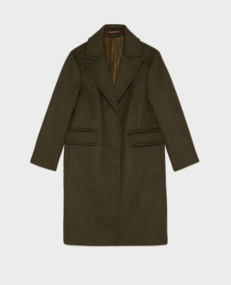 Maskuliner Mantel aus Wolle und Kaschmir Kaki Maule