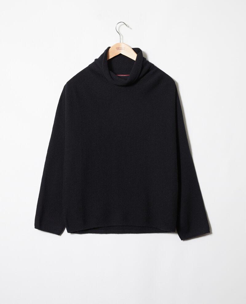 Pullover mit Stehkragen aus Kaschmir Noir Jinette