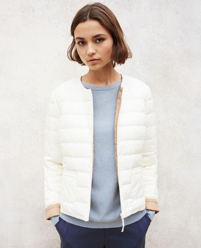 Wendebare Jacke Mademoiselle Plume Blanc/tannin Gallopo