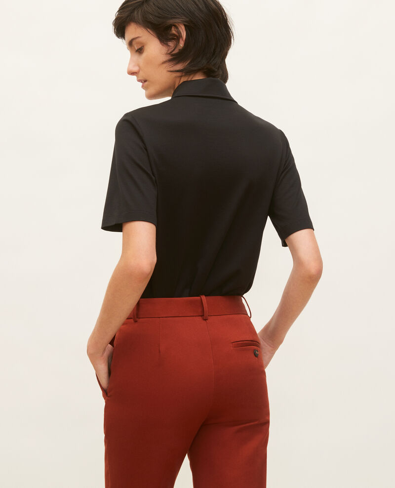Polo-Shirt aus ägyptischer Baumwolle Black beauty Levas