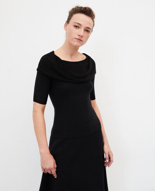 Whole Garment Pullover  Schwarz