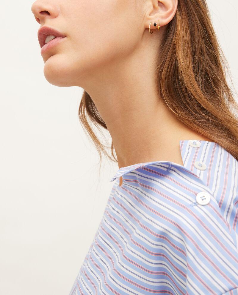 Gestreifte Oversize-Bluse Popeline stripes Lennon