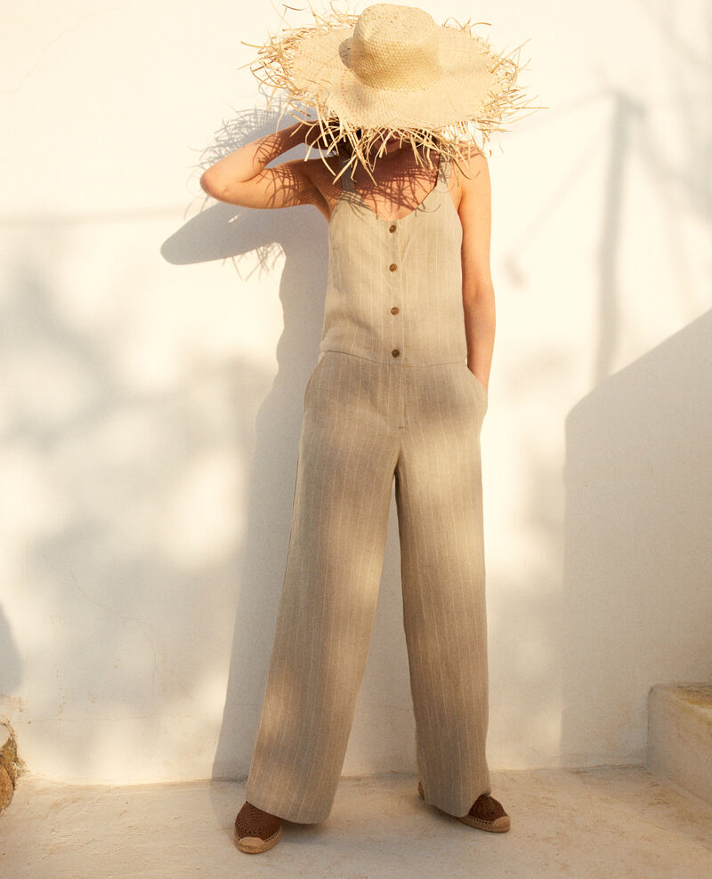 Overall aus Leinen Natural linen/off white Inac