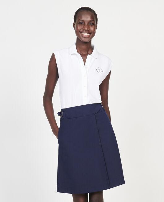 Polo-Shirt aus Piqué-Baumwolle OPTICAL WHITE