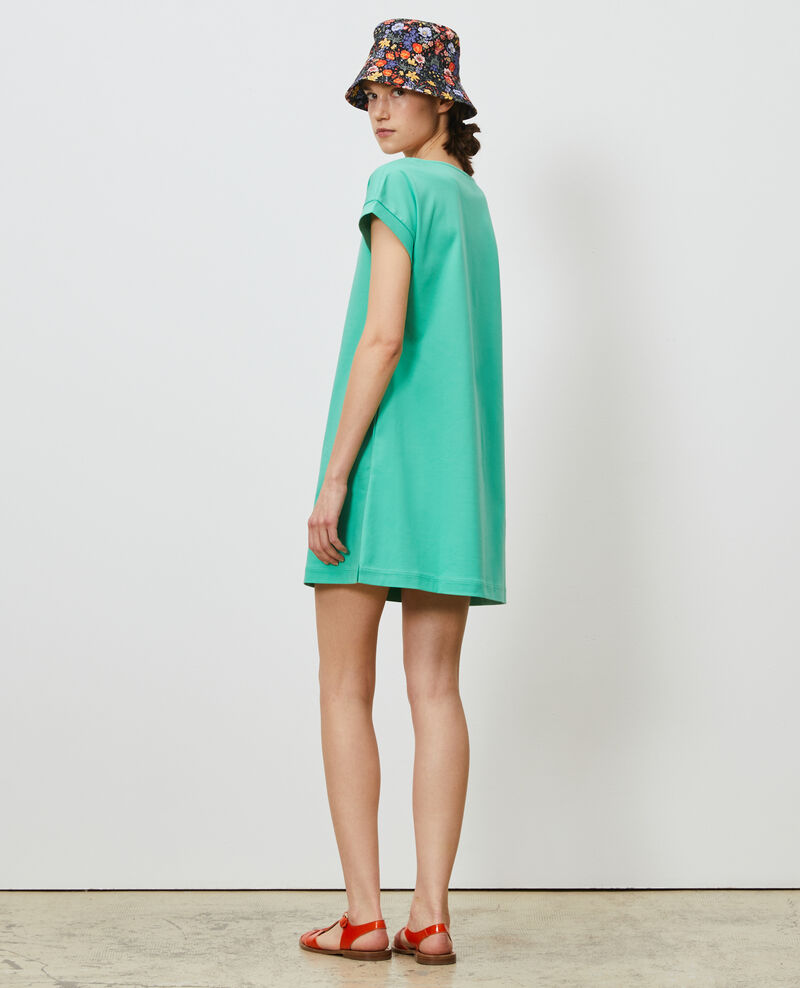 Kurzes Kleid aus Bio-Baumwolle Jade cream Neuillaco