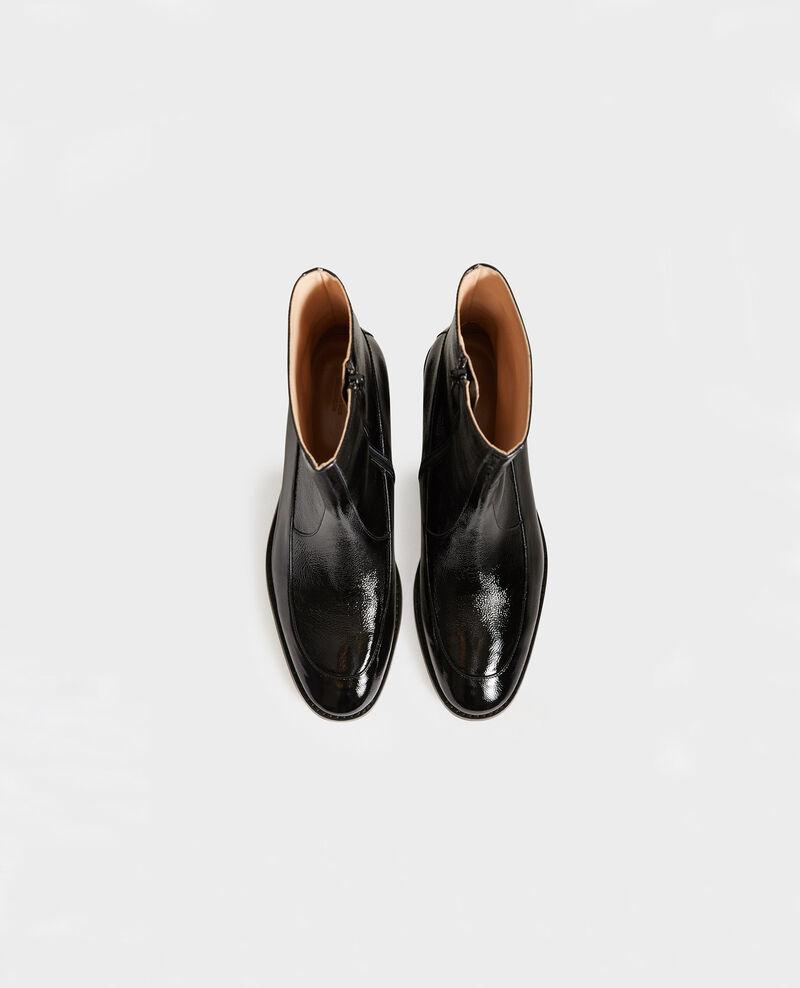 Enge Boots aus Leder Black beauty Mamine