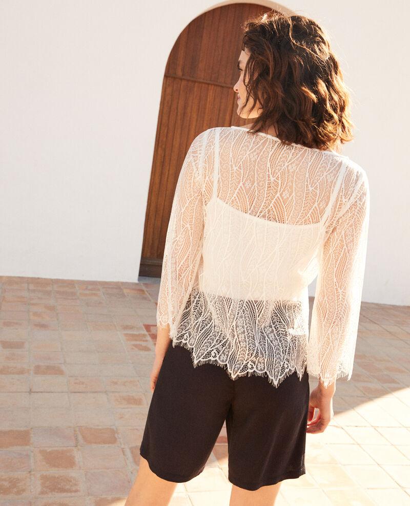 Bluse aus Spitze  Off white Ilanka