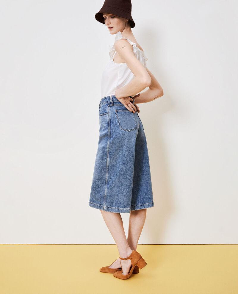 CULOTTE - Hosenrock aus Jeans Vintage wash Nayage
