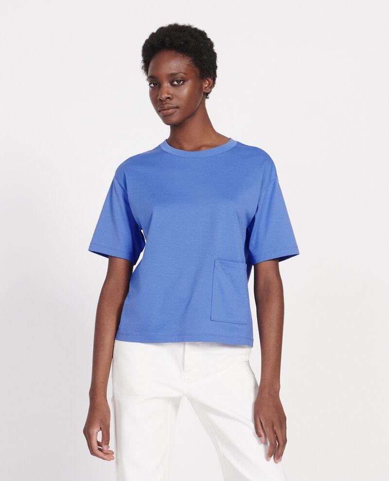 Boxy T-Shirt aus merzerisierter Baumwolle Persian jewel Lexana