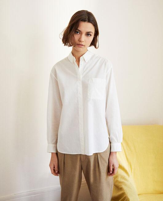 Zeitlose Bluse aus Baumwolle BLANC