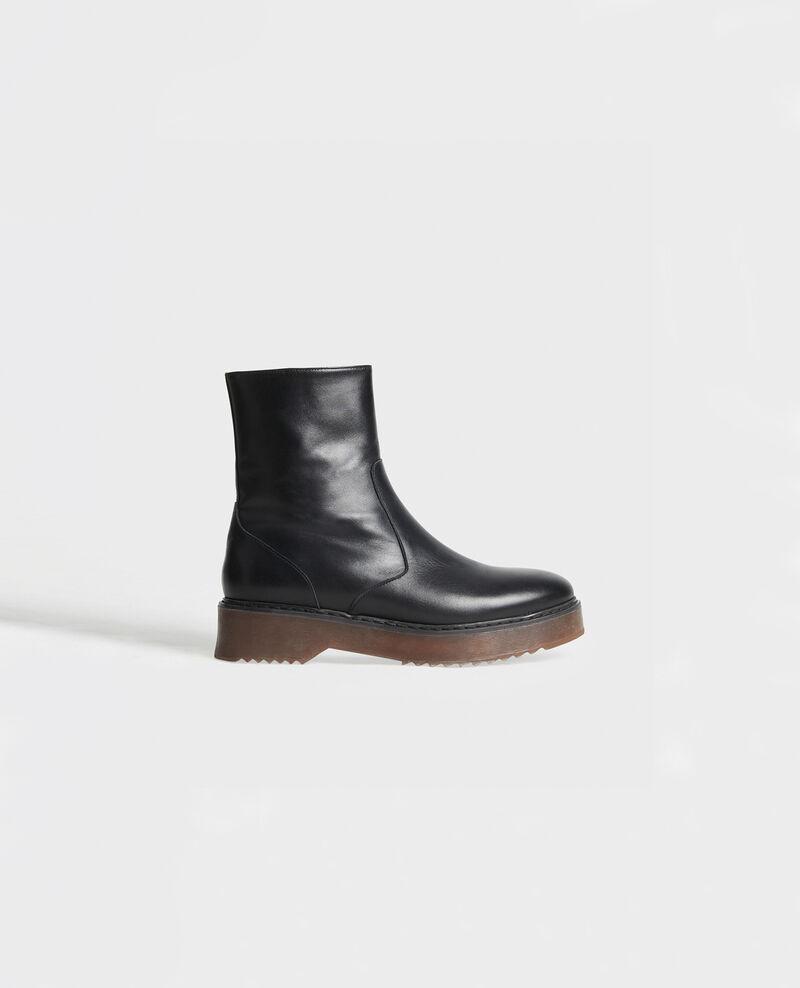 Stiefel aus strukturiertem Leder Black beauty Melun