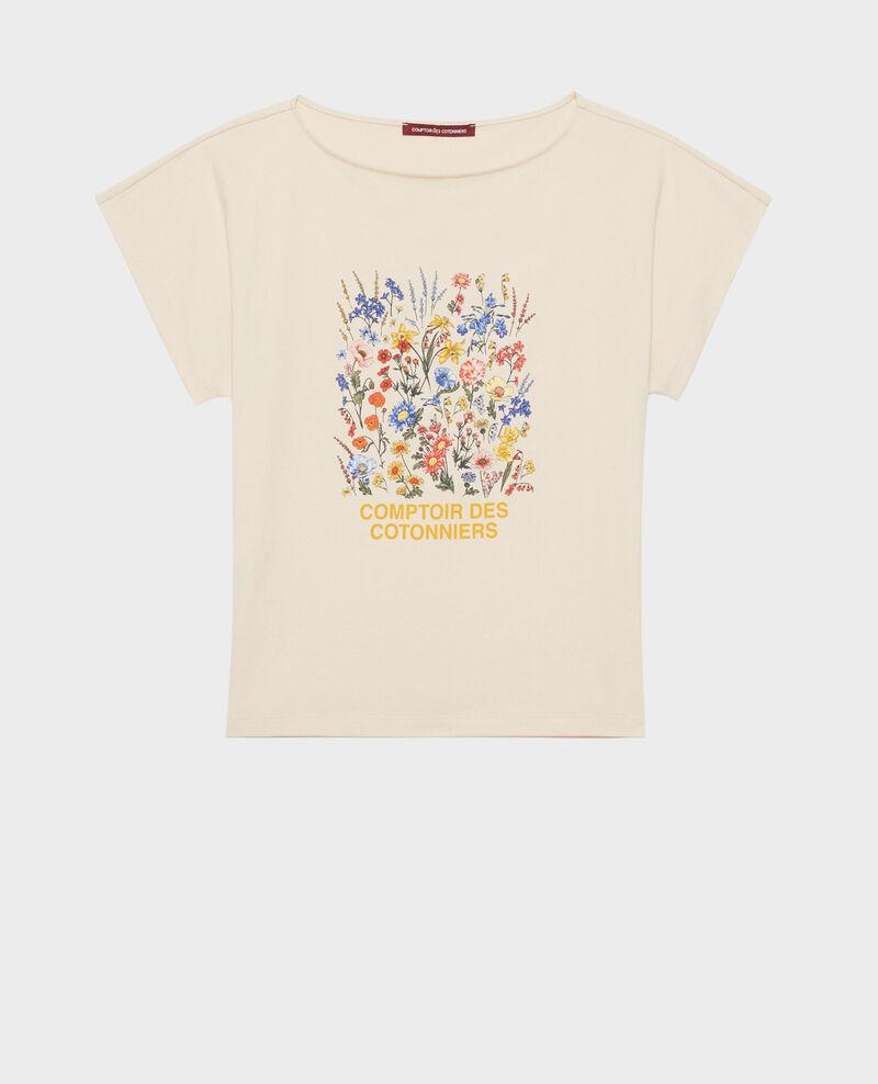 T-Shirt aus Baumwolle mit kurzen Ärmeln Tapioca Marcelin