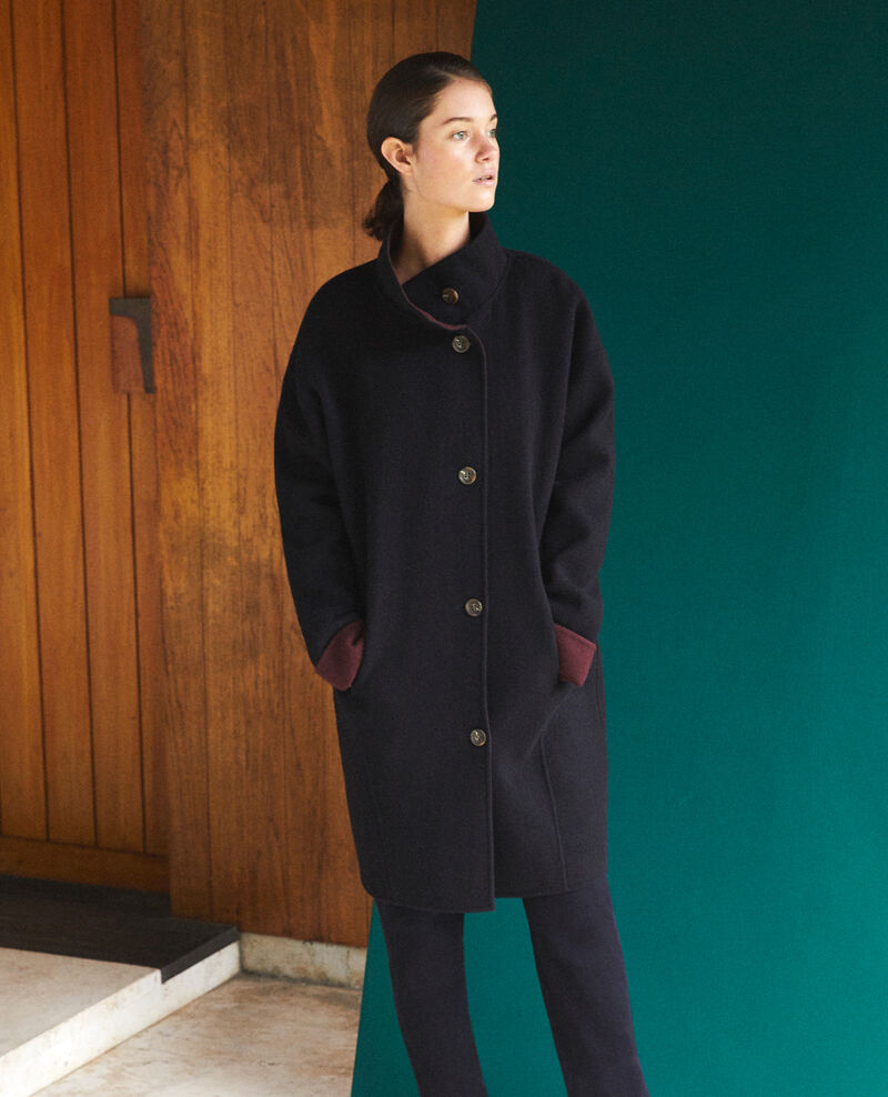 Mantel mit Stehkragen Blau Gexpresso