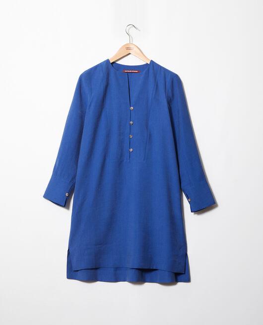 Kleid mit tunesischem Kragen IMPERIAL BLUE