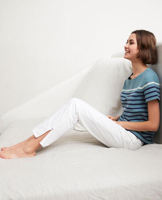 Jeans mit zwei Schlitzen BLANC