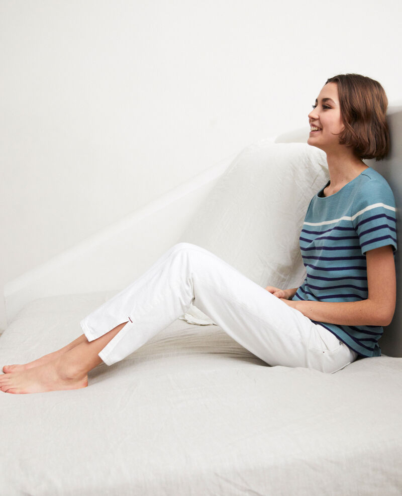 Jeans mit zwei Schlitzen  Blanc Istru