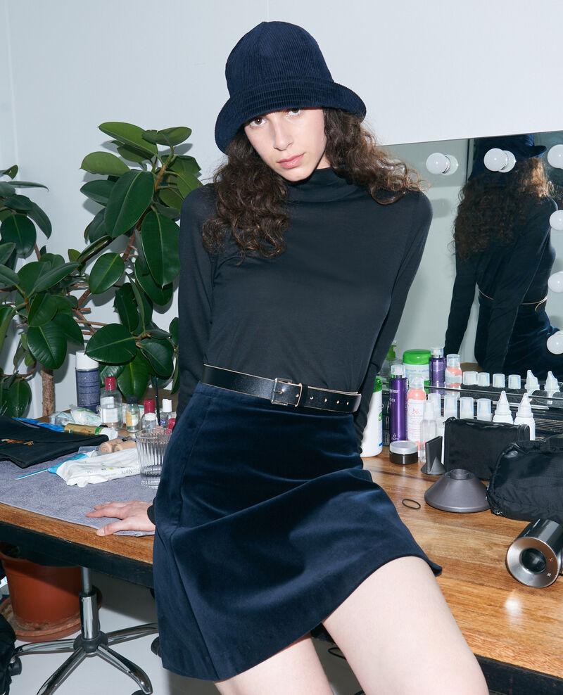 Dünner Rippstrick-Pullover Black beauty Pylka