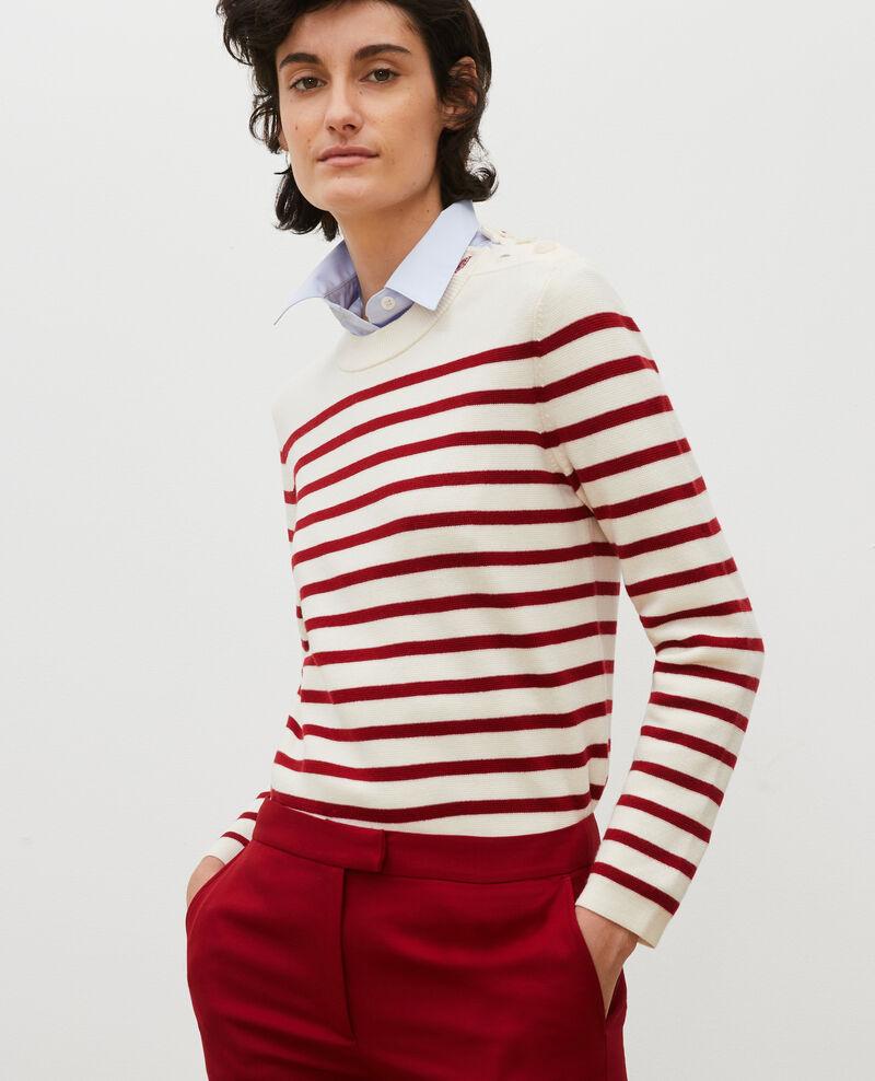 Wollpullover im Marinelook Str_jetstream_ry_red Liselle