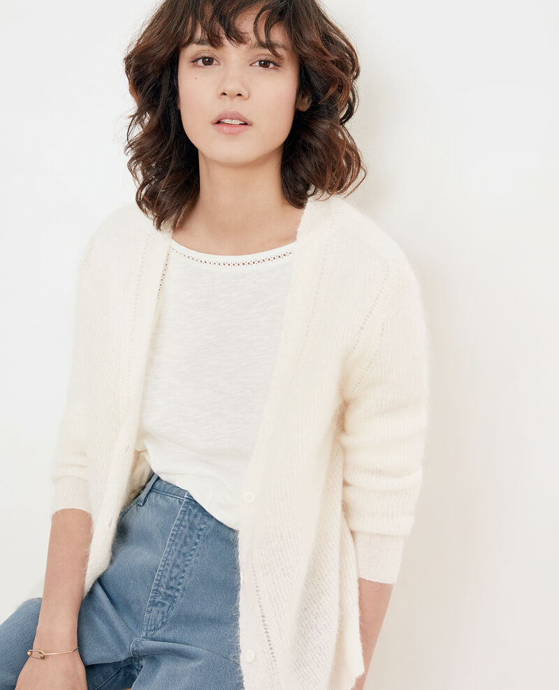 Cardigan mit Mohair Off white Frisquette
